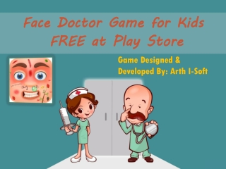 Face doctor game for kids