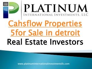 Cahsflow properties for sale detroit