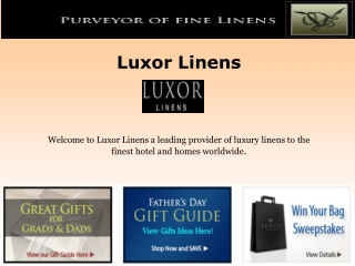 Luxor linens Reviews - Special Gifts for Fathers Day.