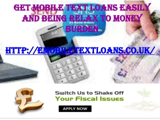 Mobile Text Loans