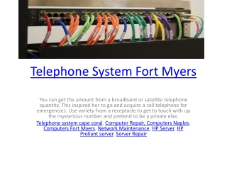 Telephone System Fort Myers