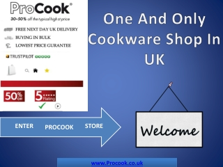 Kitchen Cookware Shop - Procook.co.uk