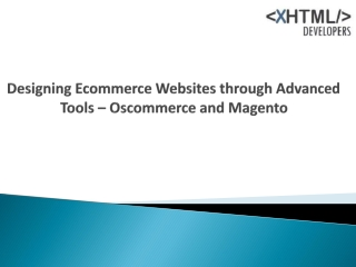 Designing Ecommerce Websites through Advanced Tools