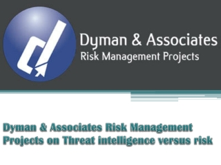 Dyman & Associates Risk Management Projects