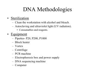 dna methodologies