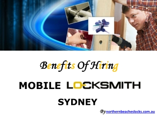 Effective Security System From Mobile Locksmith Sydney