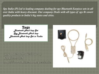 Spy Bluetooth Devices | Spy Bluetooth Products