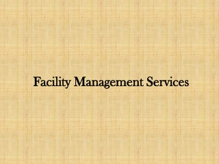 facility management companies in india