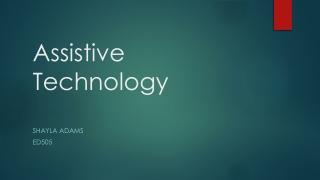 Assistive Technology Powerpoint