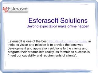 Esferasoft Web Development Comapny