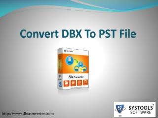 Convert DBX to PST files