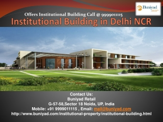 Buy Institutional Building at prime location in NCR