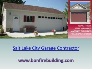 Salt Lake City Garage Contractor