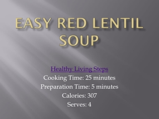 Easy Red Lentil Soup recipe