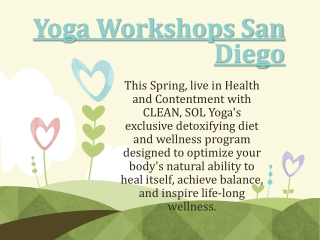 Yoga Workshops San Diego !CALL US NOW – (858) 452-9642