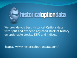 Historical Option Data in CSV and SQL Formats