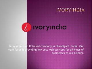 web development company in chandigarh ivoryindia