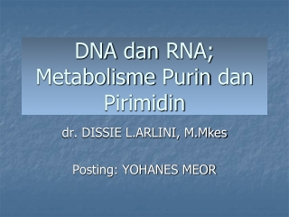 METABOLISME PURIN,PIRIMIDIN