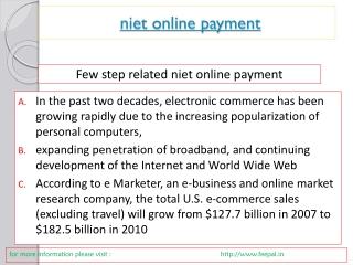 News for niet online paymet