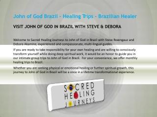 John of God Brazil