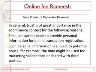 The school of online fee rameesh