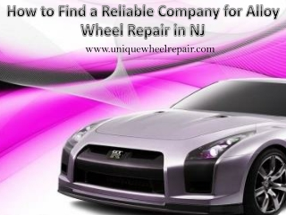 How to Find a Reliable Company for Alloy Wheel Repair in NJ