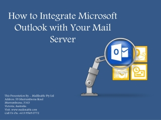 How to Integrate Microsoft Outlook with Your Mail Server