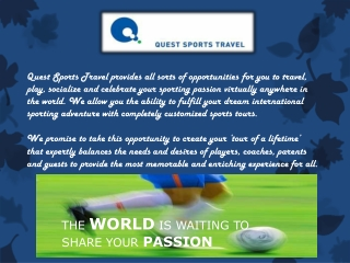 International sports tours
