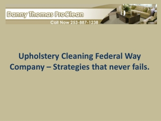 Upholstery cleaning federal way company � Strategies