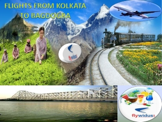 Get cheap flights from Kolkata to Bagdogra, low airfare from