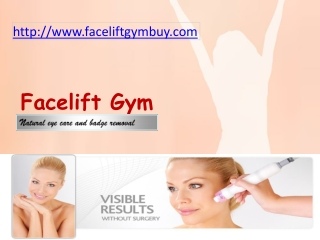 facelift Gym Review- Natural eye care and badge removal