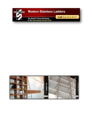 Modern Stainless Ladders