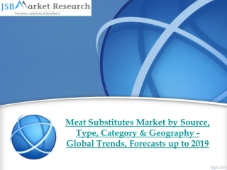 JSB Market Research - Meat Substitutes Market by Source, Typ