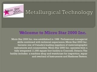 Metallurgical Technology