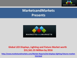 Global LED Displays, Lighting and Fixture Market