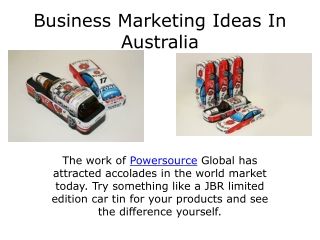 Business marketing ideas in australia