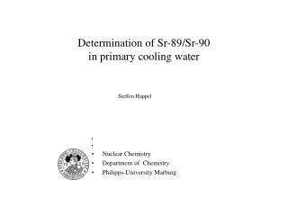 determination of sr-89
