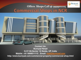 Commercial shops in Delhi NCR at affordable price