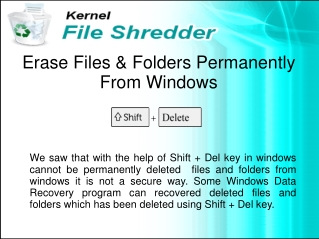 How to Permanently Deleted Files and Folders from Windows