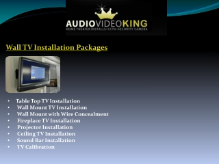 Wall TV Installation Packages by Audiovideoking.com