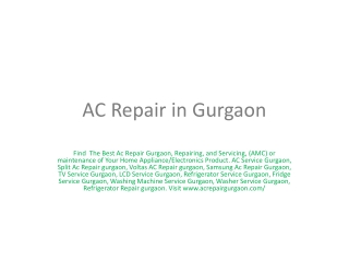 AC  Repair gurgaon