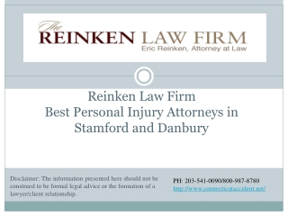 Reinken Law Firm Best Personal Injury Attorneys in Stamford