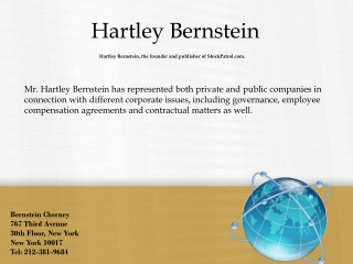 Hartley Bernstein - The Law Attorney