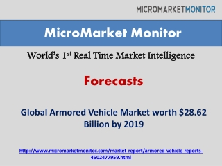 Armored Vehicle Market by 2019
