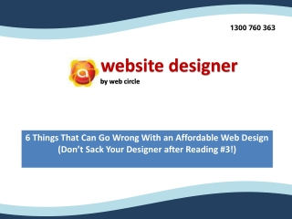 6 Things That Can Go Wrong With an Affordable Web Design