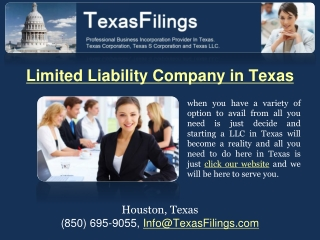 Limited Liability Company in Texas