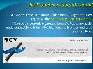 best vaping e-cigarette brand
