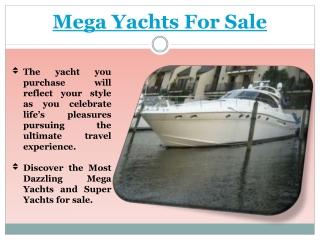 Mega Yacht Sales