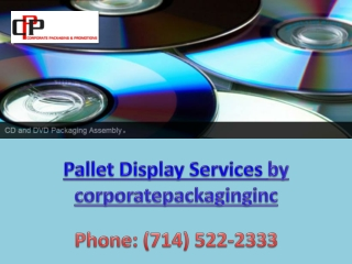 Pallet Display Servicesby corporatepackaginginc