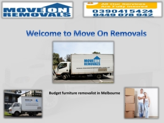Cheap removalist Melbourne